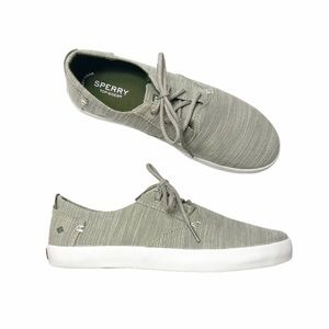 NIB Sperry Bodie tan olive boat shoes